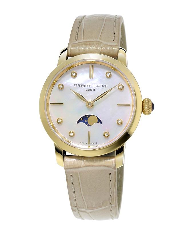 93513acb8db Relógios com diamantes são verdadeiras joias na Frederique Constant