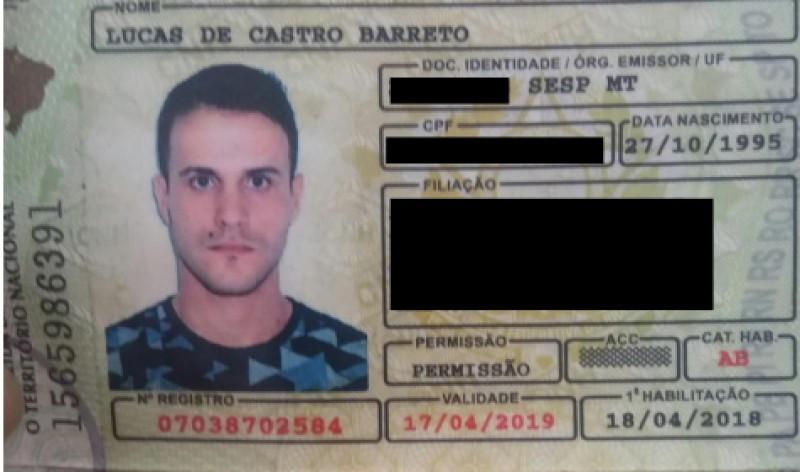 Acidente Lucas Barreto