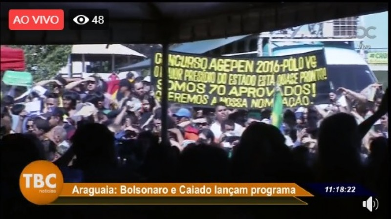 Protestos em Aragarças-GO