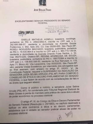 Pedido de suspensão Selma Arruda