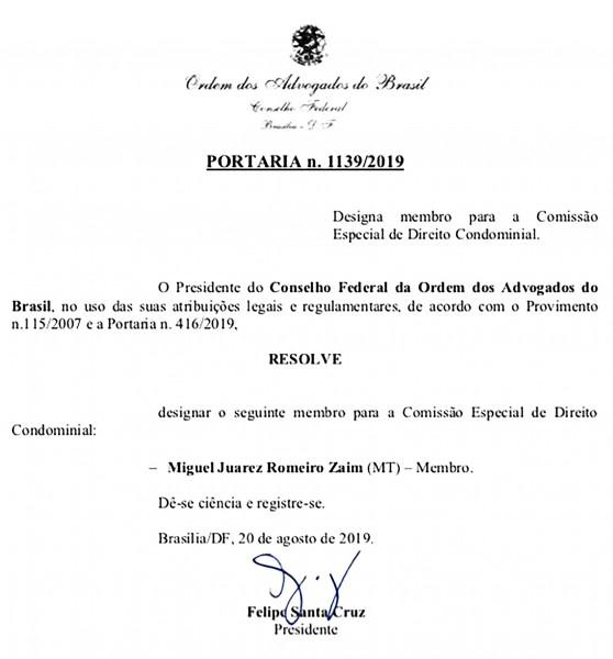 Miguel Zaim Nomeação