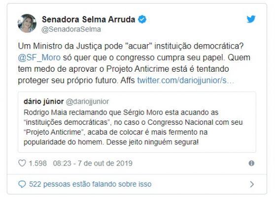 Selma defende Moro