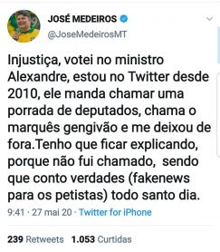 José Medeiros twitter fakenews
