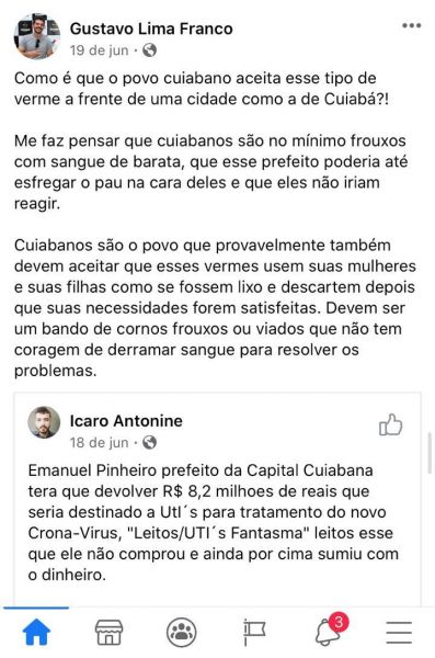 Gustavo Lima Franco cuiabanos