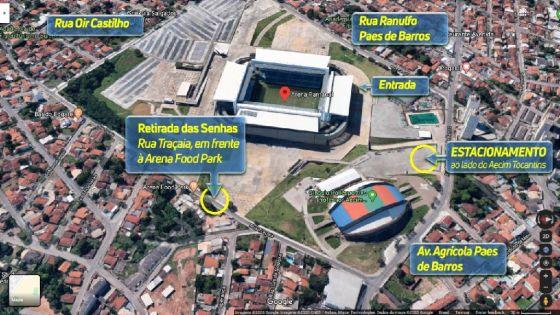 Mapa Ilustrativo - Arena Pantanal.